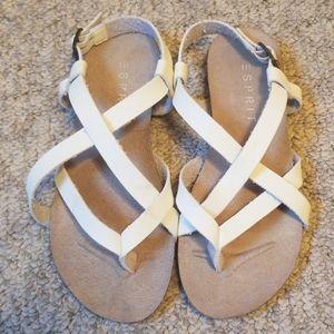 White Sandals Size 7